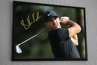 "BROOKS KOEPKA  Golf Framed Canvas Tribute Print Signed ""Great Gift"""
