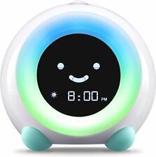 LittleHippo Mella Ready to Rise Children's Trainer, Alarm Clock, (Arctic Blue)