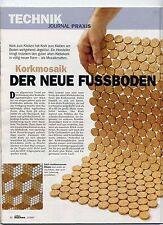 Kork Mosaik Fliese 2. Wahl 6mm Stärke 30x30m massiv Kork Outdoor Sauna Bad