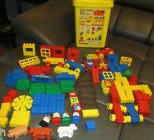 Lego Duplo Preschool Basic Building Set #2426 Yellow Bucket 1987 108 pcs 2 sets