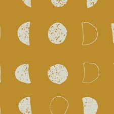 Art Gallery ~ Nightfall Lunation Bright Fabric / dressmaking gold yellow moon