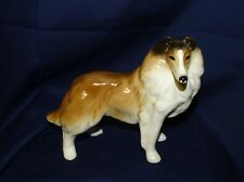 "Vtg Rough Collie Sable Figurine Coopercraft England 6"" Tall Smooth Glossy Large"