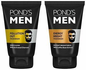 Pond's Men pollution out  100gm & energy bright face wash 100gm