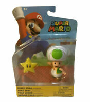 "Super Mario Green Toad Jakks Pacific Action Figure 3"" Articulated New Sealed"