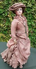 "Large Antique French Ferdinand Gaultier Fashion Bisque Head Doll 25"" c1860-70"