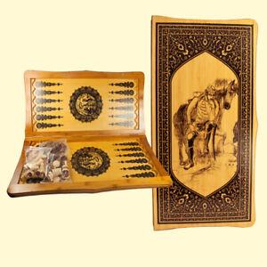 3 in 1 Schach Damen Backgammonspiel(Nardy) Georgia Holz Spielbrett 40 х 40 см