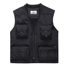Mens Quick Dry safari waistcoat hunting fishing Hooded vest photo jacket