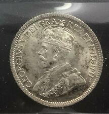 Canada 1929 Scarce 10 Cents Silver George V  ICCS MS 64 Near Gem Nice