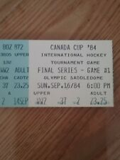 1984 Canada Cup Hockey Finals Ticket (Canada wins-Gretzky goal+two assists)