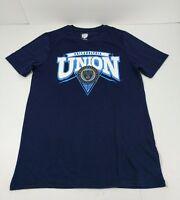 Philadelphia Union Youth T-Shirt Size Large 14/16 Blue MLS Short Sleeved New
