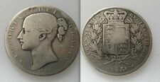 Collectable 1847 Queen Victoria Silver Crown Coin Lot 1