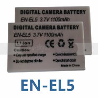 2X EN-EL5 Batteries for Nikon Coolpix P80, P90, P100, P500, P510, P520, P530