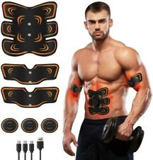 Muscle Toner Abs Stimulator, Portable Muscle Trainer, Rechargeable Abdominal Ton