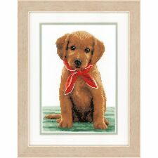 VERVACO 0146581 Cucciolo Labrador con foulard Ricamo contato