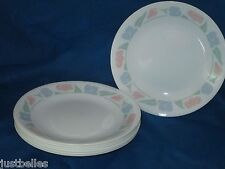 Corelle FRIENDSHIP Bread & Butter/ Salad Plate LOT of TWO 2 pastel blue flowers