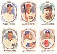 2017 Topps Allen & Ginter - Base Set Cards - Choose From Card #'s 1-200