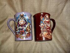 "LARGE 5"" H DISNEY STORE GRUMPY & EEYORE TIKI KINGDOM Coffee Mugs New w/ tags"