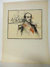Marine: Portrait par C. de Foucray de l'amiral HAMELIN