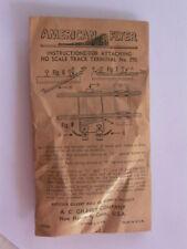 American Flyer Ho,Gilbert Ho #390 Ho Track Terminal Pickup1950 & Sealed-Nos,Mint