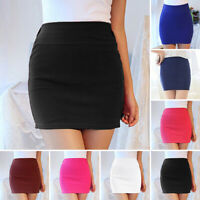 Women's Sexy Mini Pencil Dress High Waist Slim Fit Stretchy Solid Office Skirts