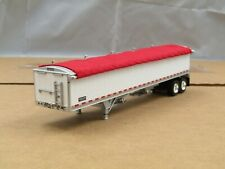 1/64 Dcp white w/red tarp Wilson hopper/grain trailer new no box