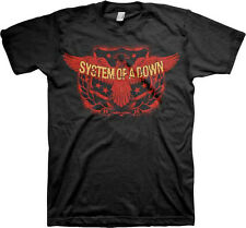 System Of A Down-Spread Eagle Crest-3X Black T-shirt