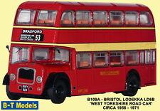 B-T Model B109A Bristol Lodekka  West Yorks Red 1/76 Scale OO Gauge 1st Class