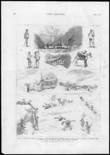 1875 Antique Print - AUSTRIA TYROL ZILLERTAL MOUNTAINS ALPS MAYRHOFEN (131)