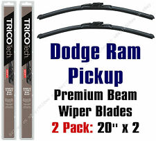 Wipers 2pk Premium Beam Blades 1994-2001 Dodge Ram Series Pickup Truck 19200x2
