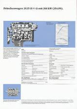MERCEDES 2635 6x4 Pianale 354 PS prospetto dati tecnici 1990 auto prospetto