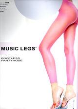 Women's Ladies Sheer White Leggings Footless Lingerie - One Size