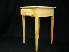 unfinished Pine End Table Night Stand Entry Table w/Beveled Edge and Tapered Leg