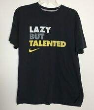 "NIKE Mens Graphic T-SHIRT ""LAZY BUT TALENTED"" SIZE L"