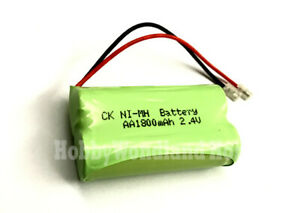 2.4V Home Phone Ni-MH AA 1800mAh 2-Cell Recharge Battery Pack w/. Universal plug