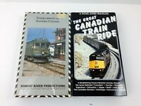 Lot of 2 Vintage VHS Video Tapes CANADIAN Trains Railroad Steam Engines CANADA