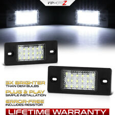 [ERROR FREE] SMD White LED License Plate Lights 03-10 Cayenne VW Touareg Tiguan