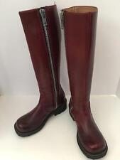 Women's John Fluevog Burgundy Tall Leather Knee High Zip Boots Size 6M Mint Cond