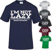 I M NOT LAZY-PRINTED SLOGAN FUNNY MENS T SHIRTS NOVELTY JOKE GIFT XMAS TOP TEE