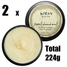 2 x WEN by CHAZ DEAN SWEET ALMOND MINT RE-MOIST INTENSIVE HAIR TREATMENT 112g