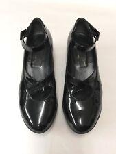 Robert Glergerie Mary Jane Black Patent Leather Platform Wedge Shoes 5.5UK