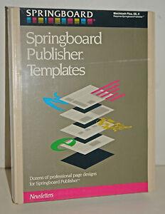 Springboard Publisher Templates Software for Vintage Apple Macintosh  SEALED NEW