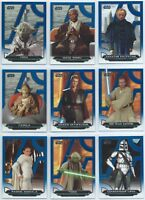 2018 Topps Star Wars Galactic Files Blue Parallel You Pick Finish Your Set