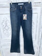 NWT NY Boutique SALT WORKS Size 24 Boot Cut Flare Jeans Fade Distressed 28 x 34