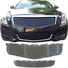 CCG 2013 2014 CADILLAC ATS CUSTOM MESH GRILLE TOP AND BOTTOM GLOSS BLACK GRILL
