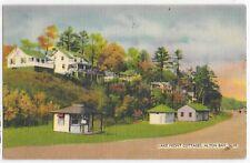 Vintage Postcard Linen Lake Front Cottages Alton Bay Nh New Hampshire Cool Note