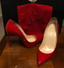 Authentic Christian Louboutin Pigalle Follies Patent Red/Rubis 120 sz 40/9