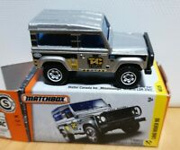 Matchbox MB721 MBX48 MB16 Land Rover Defender 90 Silver TAYLOR CONSTRUCTION Box