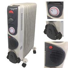 NUOVO J-Home 13 FIN Bianco Olio Riempito Radiatore Elettrico 2500 WATT 3 regolazioni di calore