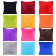 Solid Color Velvet Cushion Cover Soft Square Pillow Case Home Sofa Car Décor