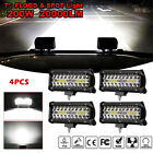 4x 7Inch 20000W LED Work Light Bar Flood Spot Pods Offroad Fog Driving ATV Truck
